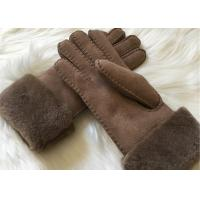 Buy cheap Bowie shearling-lined suede leather gloves double face fur lined leather gloves product