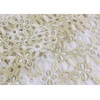 Buy cheap Polyester Lace Fabric With Floral Lace Designs Metallic Fabric For Fashion Garment product
