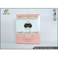 Buy cheap Luxury Pink Cosmetic Packaging Boxes For Mask Product / Cosmetic product