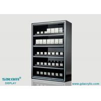 Buy cheap 5 Layers Built-in Lighting Cigarette Display Cabinet With Gliding Pusher from wholesalers
