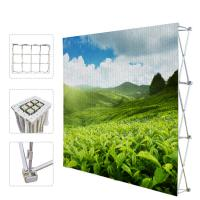 Buy cheap Portable Trade Show Backdrop Stand Various Shapes Detachable Frame 250g Fabric product