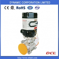 China Thread 3 Piece SS304 DN32 Electric Actuated Ball Valve on sale
