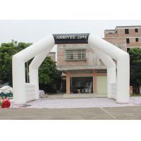 Buy cheap White Custom Inflatable Arch Double Stitch Sewing For Event Advertising product