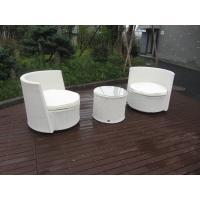Buy cheap Waterproof White Resin Wicker Chair Set For Home / Restaurant product