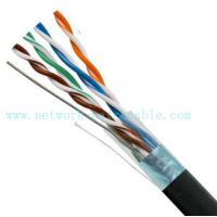 Buy cheap Black 4P Exterior Grade UTP Outdoor Cat5e Cable 100MHz Fire Resistant product