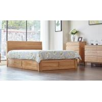 Family Tall King Size Wooden Bed Base , Solid Wood Queen Bed Frame Eco - Friendly