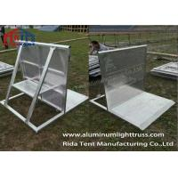 Buy cheap Removable Crowd Control Barriers Smaller Holes Plates Avoid Hurting Fingers product