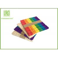 Buy cheap Wooden Stained Colored Flat Craft Sticks With Various Size And Color product