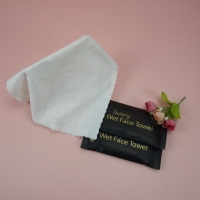Buy cheap Restaurant Disposable Customized Design Individual Packing Embossed Microfiber Wet Towel product