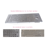 Buy cheap Metal Keyboard Panel Mount With Mechanical Trackball And Numeric Keypad product