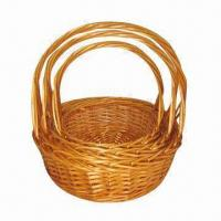 Buy cheap 3pcs willow fruit basket set, beauty and fashionable, suitable for gifts product