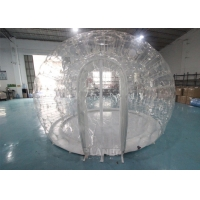 Buy cheap 0.8mm PVC 4m Dia Transparent Igloo Clear Bubble Inflatable Dome Tent For Camping / Party product