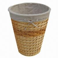 Buy cheap Round Willow Laundry Baskets with Lining, Large Storage, Customized Sizes and from wholesalers