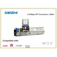 Buy cheap 1.25Gbps SFP Optical Transceiver , 120km Reach Single Mode SFP EZX Optical from wholesalers