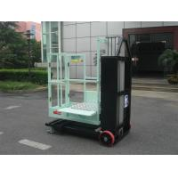 Buy cheap Mast Type Semi - Electric Aerial Order Picker Manual Push Around For One Person product