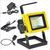 Buy cheap Aluminum Alloy  Outdoor light 10W Rechargeable  5730SMD LED Flood Light White/red/blue from wholesalers