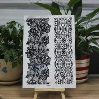 Buy cheap Custom Printed Body Makeup Black Tattoo Stickers Temporary Hollow Lace product