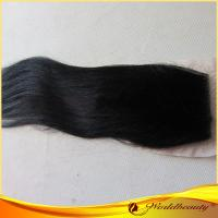 Buy cheap Remy Yaki Human Hair Top Closure 14 Inch With Tangle Free from wholesalers