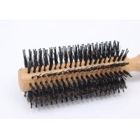 Buy cheap Natual Round Boar Bristle Brush Durable For Reducing Hairloss , Anti Static product