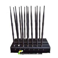 Buy cheap 14 Antennas 35W High Power Car Remote Control Mobile Signal Blocker Jammer Block 433mhz, 315mhz, 868mhz Adjustable product