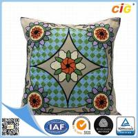 Buy cheap Polyester Or Cotton Embroidered Decorative Throw Pillows for Bed Red Grey Blue Green product