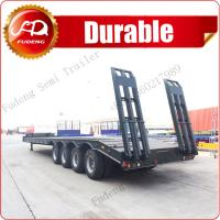 Buy cheap Fudeng cheap 4 axles 100 ton heavy haul tractor front load neck low bed trailer for sale product