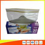 Buy cheap Supermarket Reuseable Plastic Clear Sandwich Bags Zipper Top 22 * 25cm product