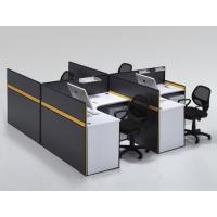 Buy cheap aluminum work partition modern cubicle office modular workstation with glass and alunium partition column B2 product