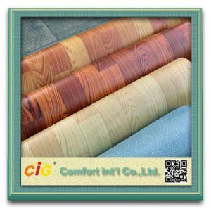 Buy cheap Custom Printing Wood Grain Artos PVC Floor Covering , Plastic Floor Coverings for Wedding product
