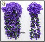 UVG artificial flowers wholesale hanging silk violet wreath for wedding flower
