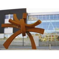 Modern Large Corten Steel Sculpture For Public Garden Decoration 300cm Height