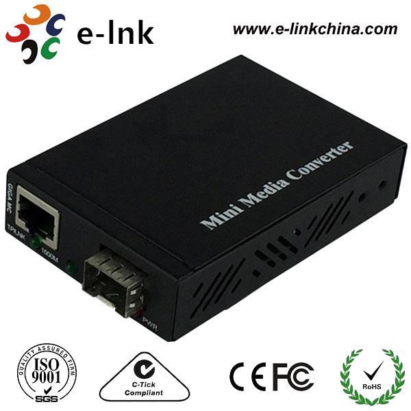Quality Mini SFP / LC Fiber Ethernet Media Converter With SFP Port , Fiber To Gigabit Ethernet Converter for sale