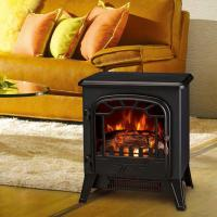 Buy cheap electric fireplace heater log burning flame effect antique electric stove ND-186 with thermostat and dimmer room heater product