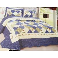 Buy cheap Blue Checkered Home Bed Quilts Soft Touch For Indoor Household Decoration product