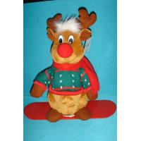 Buy cheap Lovely Dressed Reindeer Soft Velboa as Personalised Christmas Gifts with ODM Available from wholesalers