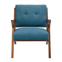 Buy cheap Blue Arm Accent Chair Deattached Seat , Fabric Living Room Chairs Tight Back product