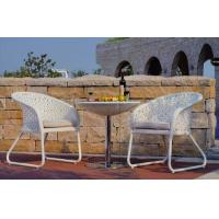 Buy cheap White Indoor / Outdoor Patio Furniture Patio Table And Chairs Set For Conversation from wholesalers