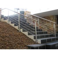 China Customized Color Stainless Steel Staircase Railing For Restaurants / Commercial Buildings on sale