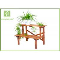 Buy cheap Standing Outdoor Durable Bamboo Flower Pots Garden Shelves For Home product