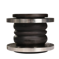 Buy cheap double sphere flexible joint SS304 flange rubber expansion joint from wholesalers