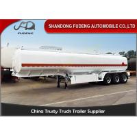 Steel Fuel Tanker Semi Trailer For Petrol / Diesel / Crude Oil Transportation