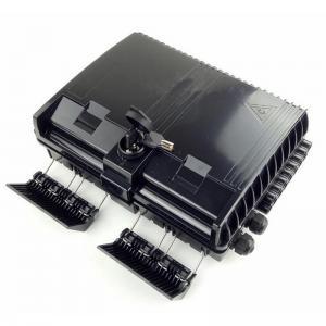 China HDX-09B 16 Core Fiber Optic Termination Box 2X16 Core FTTX Fiber Optic Box Splitter Box Black on sale
