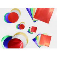 Buy cheap Gummed Colored Paper Circles Gloss Finish Combined With Squares And Circles product