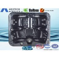 Square acrylic whirlpool massage outdoor hydro hot tub for 3 - 4 adults, OEM /