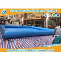 Multi Color Water Toys Inflatable Paddling Pool With Logo Printing , 8 * 8m