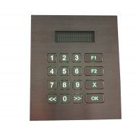 Buy cheap RS232 Metal Keypad with VFD Display Backlight for Access Control product