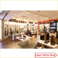 Buy cheap Customized fashion retail wall wood display shelf shoes store furniture product