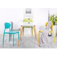Buy cheap Cafe Bistro 41cm Height Plastic Restaurant Chairs from wholesalers
