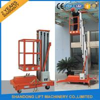 Buy cheap Single Four Mast Aluminum Alloy Aerial Work Platform Lift For Aerial Work CE Hydraulic product