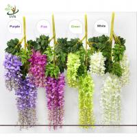Buy cheap UVG Artificial Flower for Wall Decoration in White Wisteria wedding use china market product
